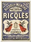 Chic Style Vintage French Ricqles Spirit Metal Sign